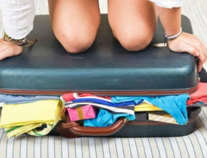 10 έξυπνοι τρόποι για να εξοικονομήσετε χώρο στη βαλίτσα!
