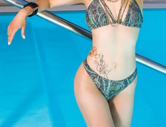Κόλαση πρώην παίκτρια του YFSF! Τα καυτά μαγιό και τα τατουάζ στο σώμα της!