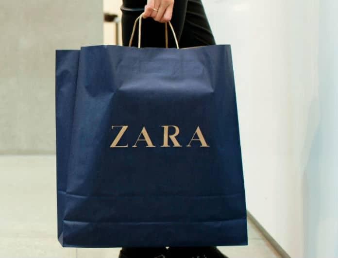Zara: Απίστευτη θραύση το τοπ με τα φουσκωτά μανίκια και την χρυσόσκονη!