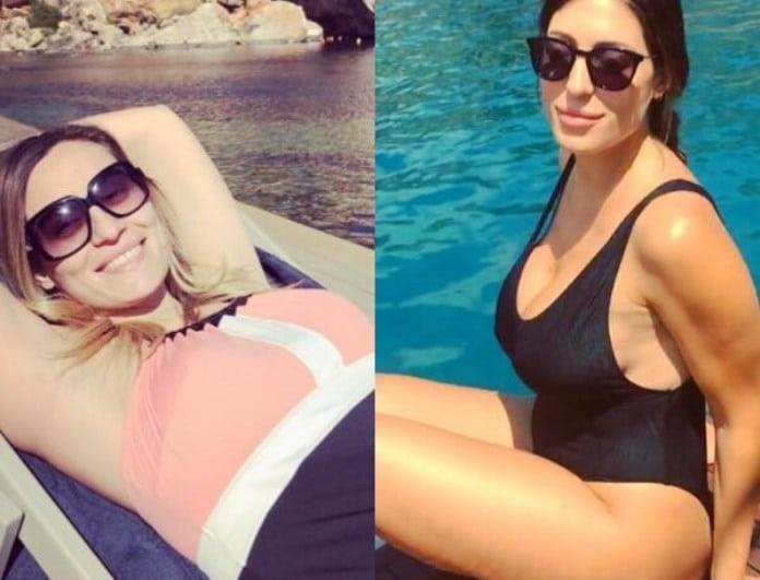 Ελεονώρα Μελέτη - Φλορίντα Πετρουτσέλι: Μαζί μέσα στην πισίνα με τις αγάπες τους!