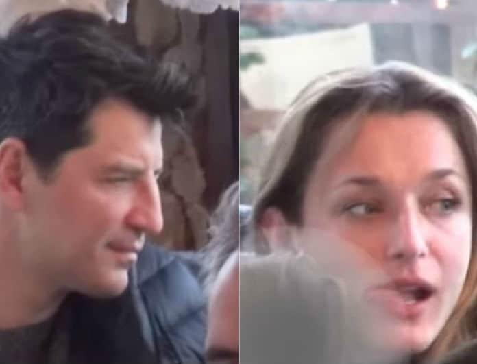 Σάκης Ρουβάς - Κάτια Ζυγούλη: Εκείνος της χαϊδεύει τα μαλλιά κι εκείνη ούτε που τον κοιτάει!