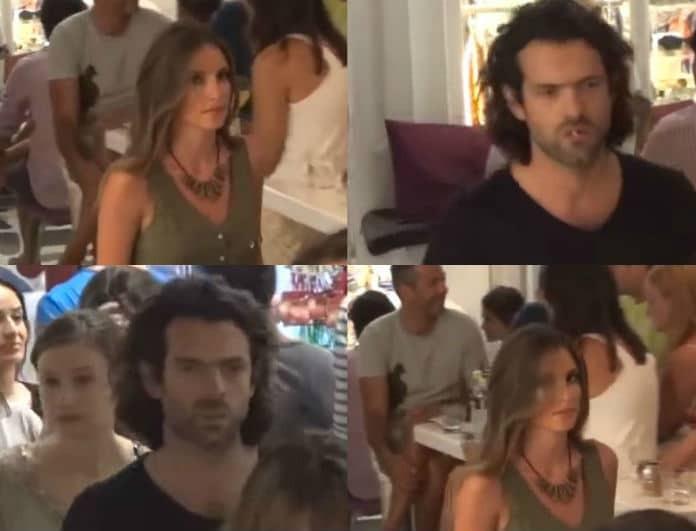 Αθηνά Οικονομάκου - Φίλιππος Μιχόπουλος: Έξαλλοι όταν εντόπισαν την κάμερα! Τα