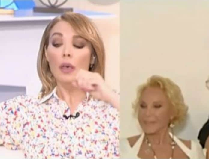 Τατιάνα Στεφανίδου: Εσπευσμένα εκτός πλατό! Πνίγηκε στον αέρα της εκπομπής! (Βίντεο)