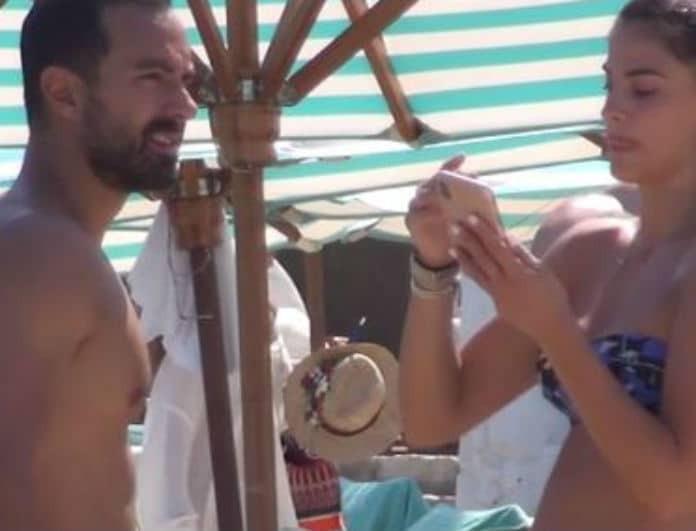 Σάκης Τανιμανίδης: Όταν είδε την κάμερα ήταν ήδη αργά! Τα χάδια με την Χριστίνα Μπόμπα σε κοινή θέα!