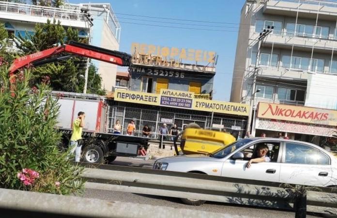 Τροχαίο στον Κηφισό: Σοκάρει η εικόνα με το τουμπαρισμένο ταξί!
