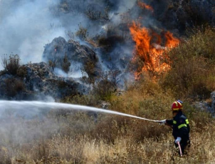 Ξέσπασε μεγάλη πυρκαγιά στην Αρχαία Νεμέα!