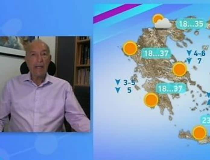 Τάσος Αρνιακός: Προειδοποιεί για ισχυρά μελτέμια! Ποιες περιοχές θα «χτυπηθούν» από τους ανέμους; (Βίντεο)