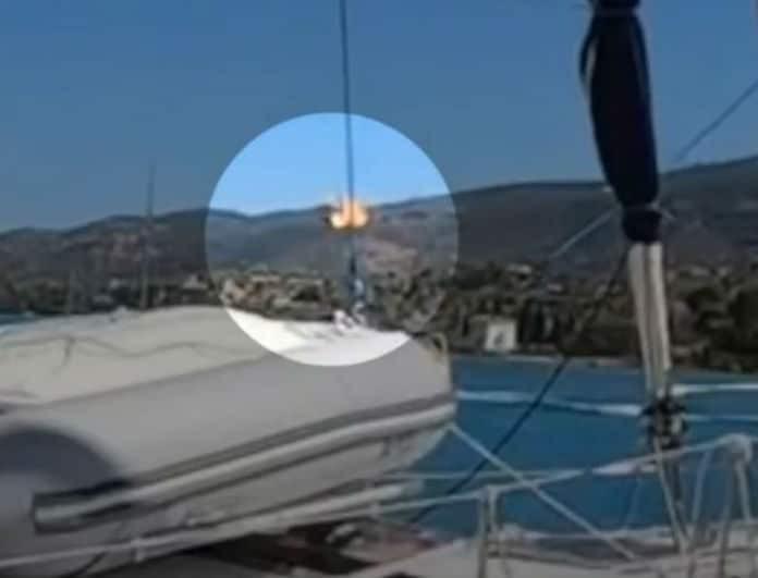 Τραγωδία στον Πόρο: Καρέ καρέ η στιγμή που το ελικόπτερο χτυπάει στα καλώδια και εκρήγνυται!