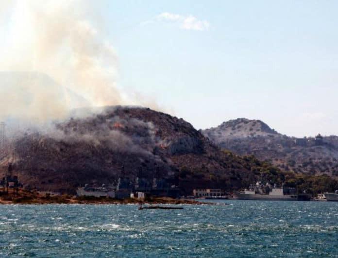 Φωτιά τώρα στην Σαλαμίνα! Εκκενώθηκε οικισμός!