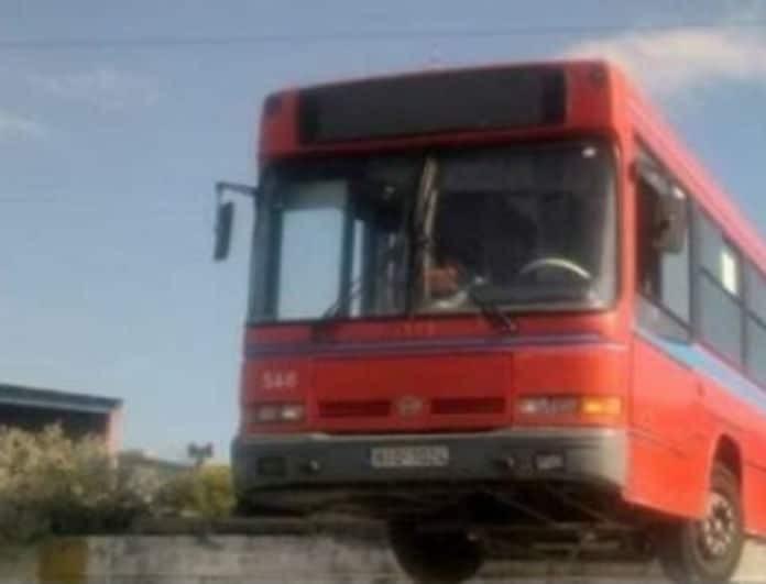 Θρίλερ στην Θεσσαλονική! Λεωφορείο βρέθηκε να κρέμεται στο κενό!
