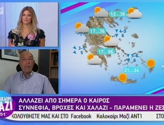 Τάσος Αρνιακός: Προειδοποιεί για την ραγδαία αλλαγή του καιρού! (Βίντεο)