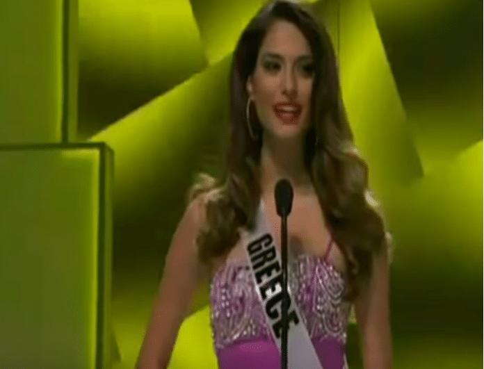 Flashback: Όταν η Ηλιάνα Παπαγεωργίου κρινόταν για το Miss Universe! Πέρασε ή κόπηκε; (Βίντεο)