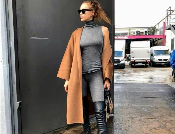 Ιρίνα Σάικ: Έκανε εμφάνιση με καμηλό πανωφόρι και ξετρελαθήκαμε! Διάλεξε το παλτό που σου ταιριάζει!
