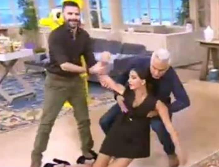 Σταματίνα Τσιμτσιλή: Έπεσε... αναίσθητη στο πάτωμα! Έσπευσαν να την σηκώσουν οι συνεργάτες της!