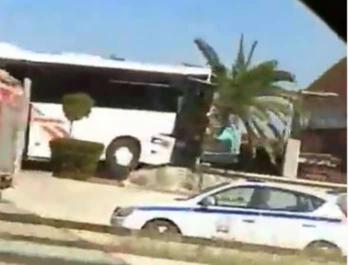 Τροχαίο με λεωφορείο των ΚΤΕΛ στην Θεσσαλονίκη! Υπάρχουν τραυματίες!