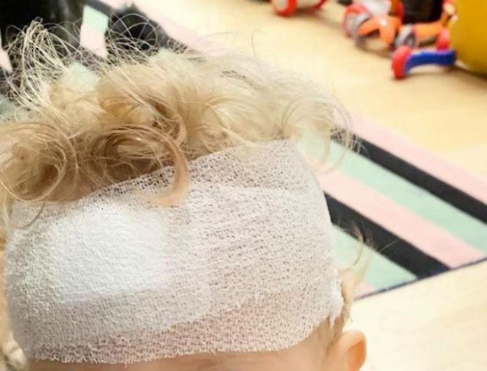 Πολύ δύσκολες ώρες για γνωστή celebrity! Φωτογραφίες από το σοβαρό ατύχημα του γιου της, με επιδέσμους στο κεφάλι!