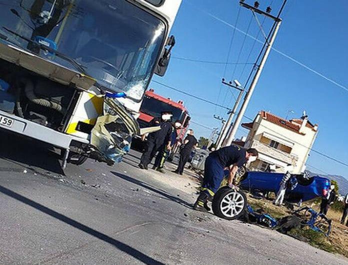 Τροχαίο σοκ στο Μενίδι! Λεωφορείο συγκρούστηκε με Ι.Χ!