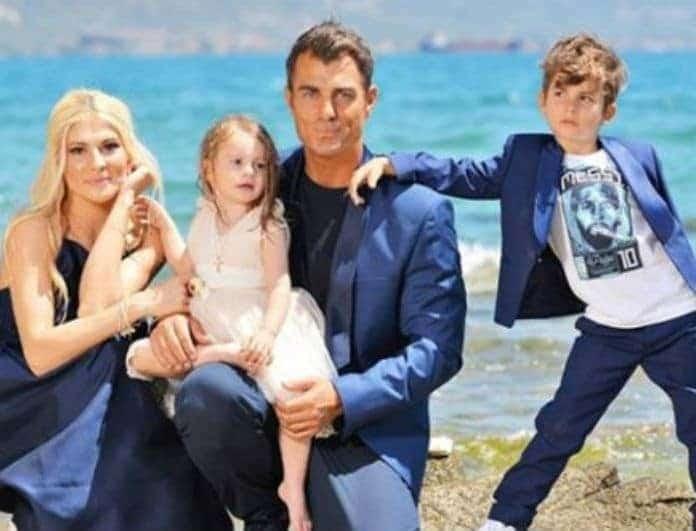 Στέλιος Χανταμπάκης - Όλγα Πηλιάκη: Έφυγαν από την Ελλάδα με τα παιδιά τους! Φωτογραφία ντοκουμέντο μέσα από το αεροπλάνο!