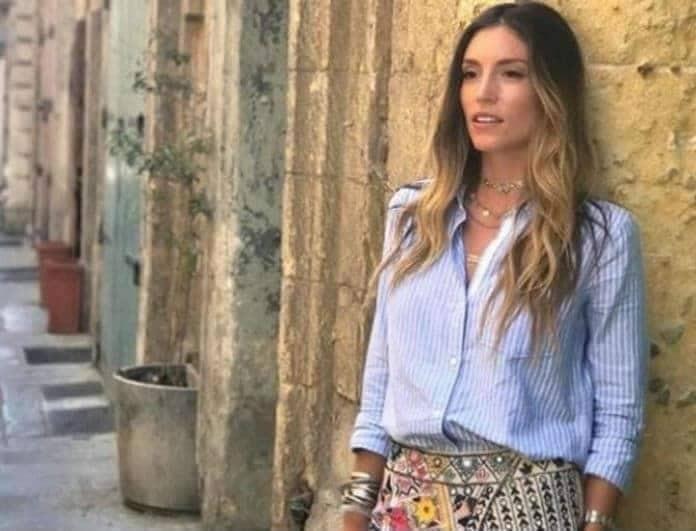 Αθηνά Οικονομάκου: Το παντελόνι της σε μωβ και ροζ, το φορούν μόνο τολμηρές! Κοστίζει 130 ευρώ!