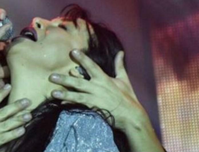 Πάολα: Αυτός ο άντρας ανέβηκε πλάι της στην πίστα και της φίλησε το λαιμό! Δείτε το πρόσωπό του!