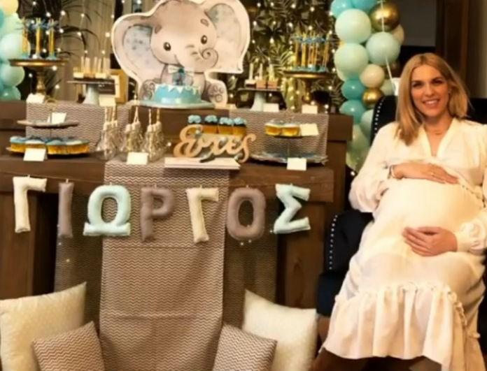 Μαντώ Γαστεράτου: Φωτογραφίες από το εντυπωσιακό baby shower λίγο πριν γίνει μανούλα!