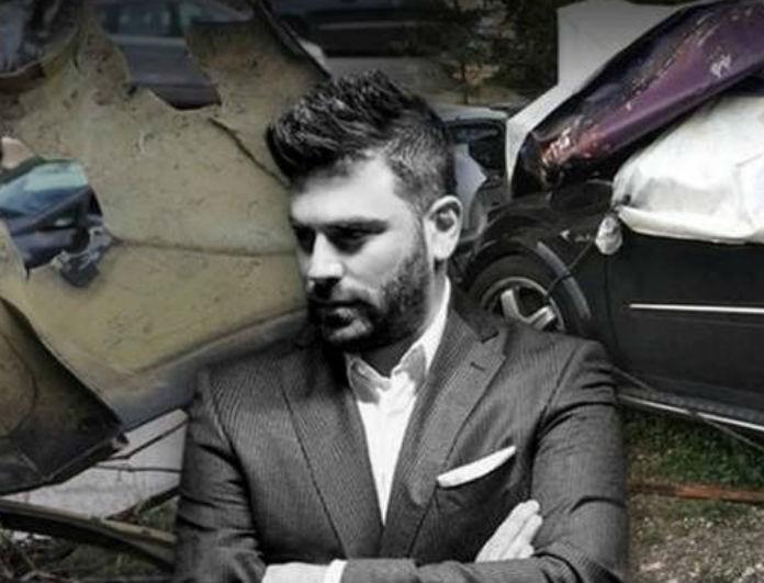 Παντελής Παντελίδης: Φωτογραφία - αποκάλυψη για το τροχαίο! Τα σπασμένα τζάμια και η «διαλυμένη» ρόδα!