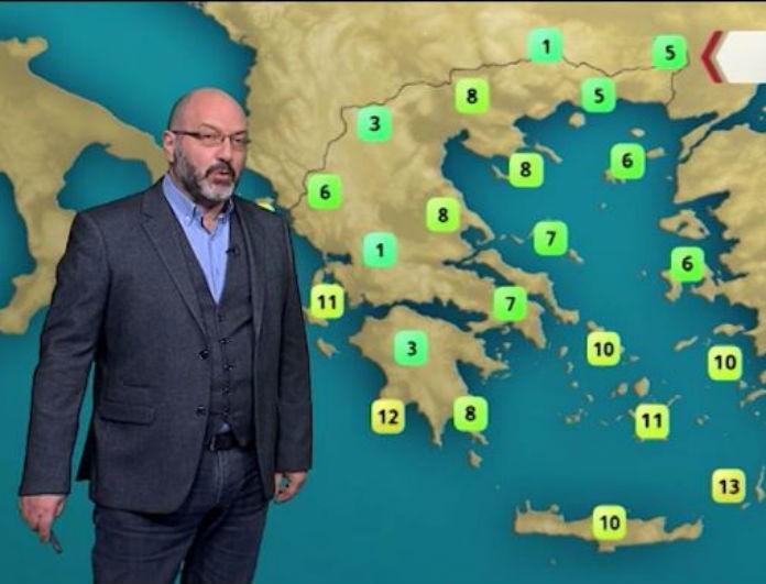 Ο Σάκης Αρναούτογλου προειδοποιεί: Ανατροπή με τον καιρό! Μόνο μια περιοχή της Ελλάδας θα παραμείνει στο