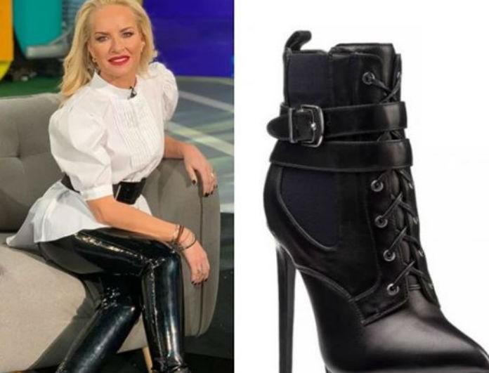 Μαρία Μπεκατώρου: Έδειχνε 2 μέτρα με αυτά τα παπούτσια! Το ύψος της όμως είναι λιγότερο...