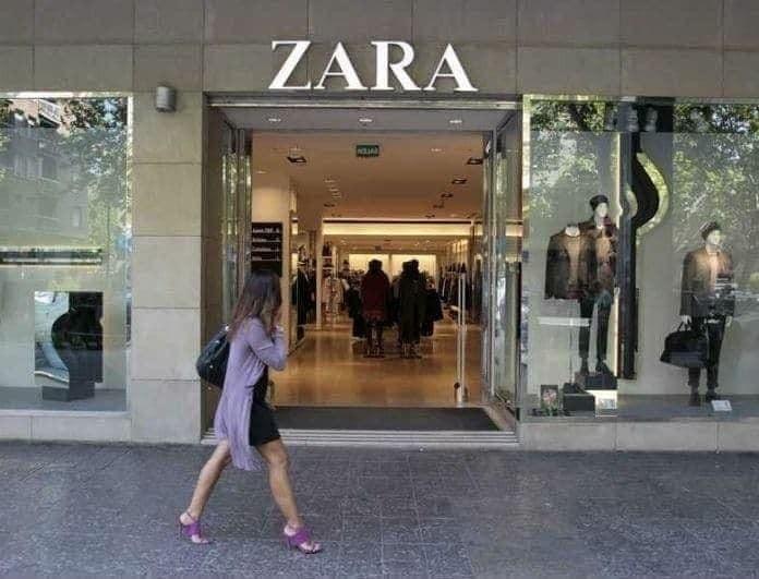 Zara: Αυτή η μπλούζα από τη νέα συλλογή είναι εμπριμέ και έχει φουσκωτά μανίκια! Κάνουν χαμό για να την βρουν!