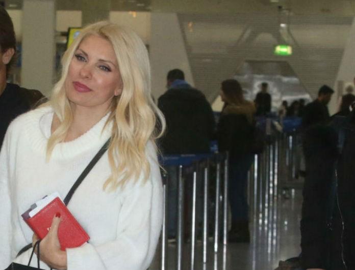 Ελένη Μενεγάκη: Στο αεροδρόμιο με τον Μάκη Παντζόπουλο και τα παιδιά! Φωτογραφίες ντοκουμέντο!