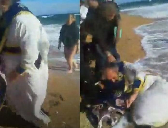 Θεοφάνεια: Απίστευτο σκηνικό στην Κεφαλονιά! Ο άνεμος «έριξε» τον ιερέα στην θάλασσα!