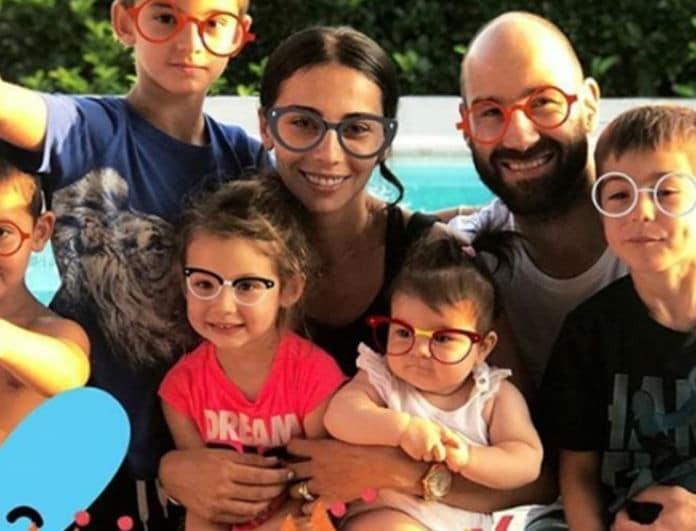 Ολυμπία Χοψονίδου - Βασίλης Σπανούλης: Ποιο θα είναι το όνομα του 6ου παιδιού τους; Έχουμε ένα στοιχείο!