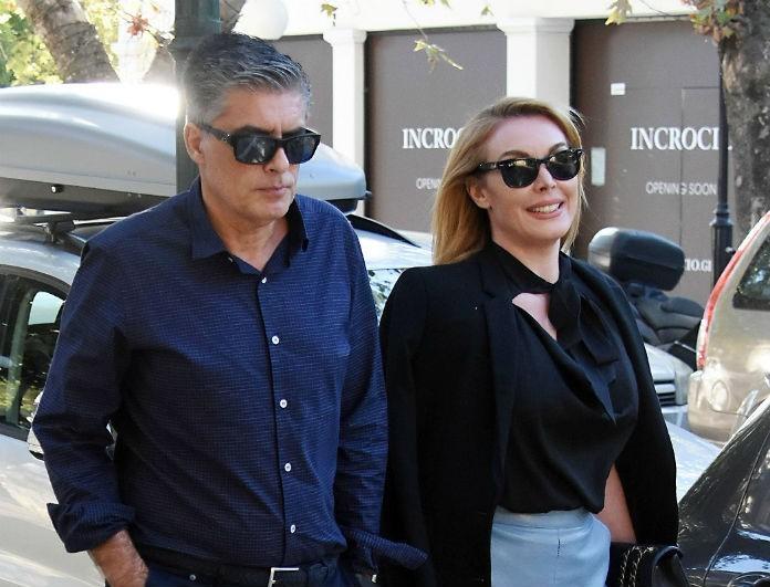 Τατιάνα Στεφανίδου: Με λευκό φόρεμα με δαντέλα μαζί με το Νίκο Ευαγγελάτο! Το ζευγάρι σε δημόσια εμφάνιση!