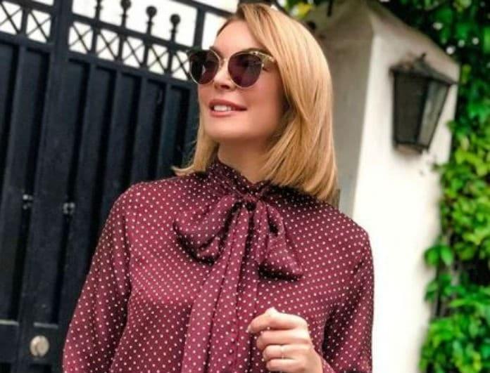 Τατιάνα Στεφανίδου: Έβαλε μπεζ μπότες και ροζ φούστα! Το λευκό κομμάτι έκανε την διαφορά...