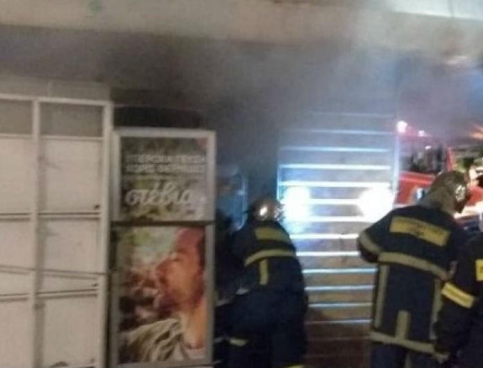 Θεσσαλονίκη: Περίπτερο στο κέντρο της πόλης έπιασε φωτιά