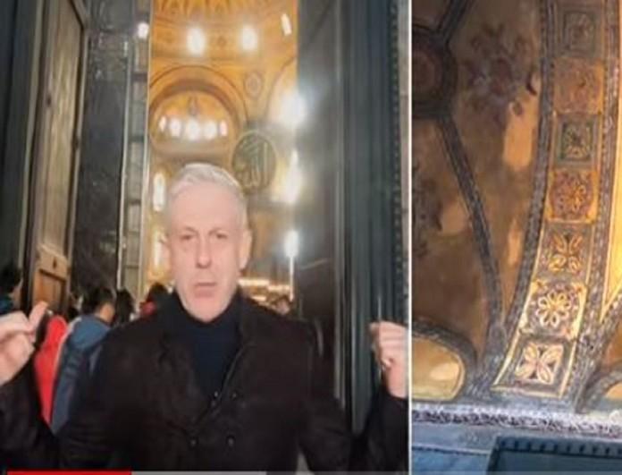 Εικόνες με τον Τάσο Δούση: Η μοναδική περιήγηση στον ναό της Αγιάς Σοφιάς