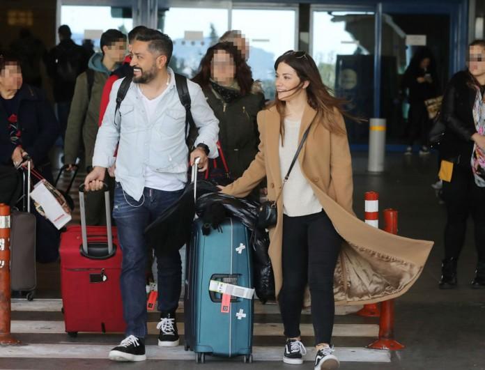 Γύρισαν Ελλάδα Βάσω Λασκαράκη και Λευτέρης Σουλτάτος - Οι τρυφερές φωτογραφίες από το αεροδρόμιο