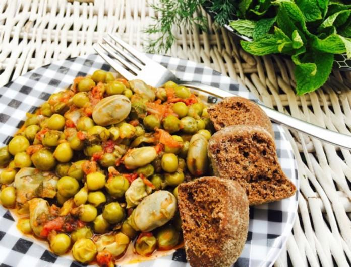 Κουκιά με αρακά από την Βέφα Αλεξιάδου  - Πριν τα βγάλεις από την φωτιά ρίξε λεμόνι