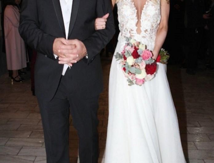 Βουλευτής παντρεύτηκε την καλή του ανήμερα του Αγίου Βαλεντίνου - Το ρομαντικό νυφικό που εντυπωσίασε!