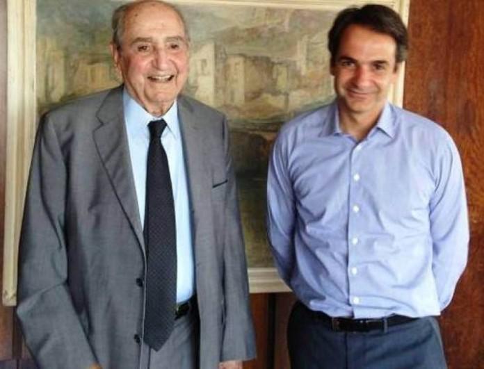 Στα Χανιά ο Κυριάκος Μητσοτάκης για το μνημόσυνο του πατέρα του, Κωνσταντίνου