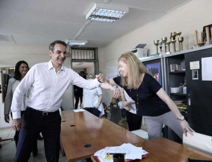 Ο Κυριάκος Μητσοτάκης στο 7ο Γυμνάσιο Αθηνών -