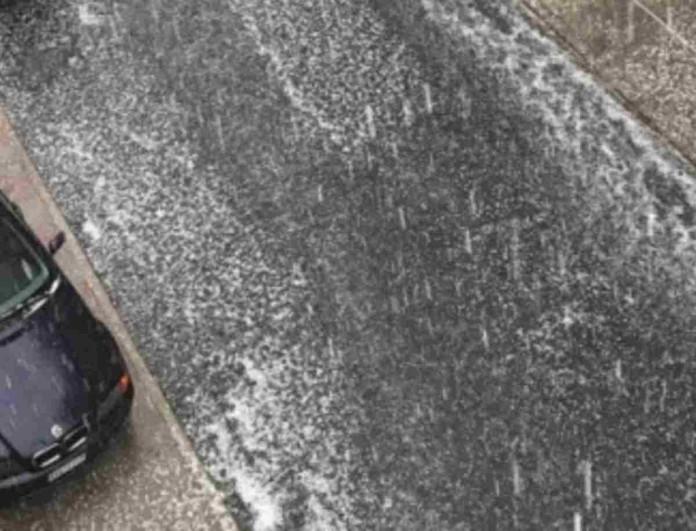Χειμωνιάτικο τοπίο στην Ξάνθη - Η χαλαζόπτωση έφερε προβλήματα στην περιοχή