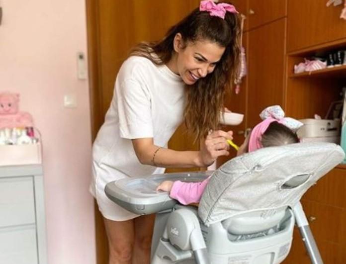 Θα «λιώσετε» με την κόρη της Ελένης Χατζίδου - Δεν φαντάζεστε τι της έδωσε να φάει και... ξετρελάθηκε