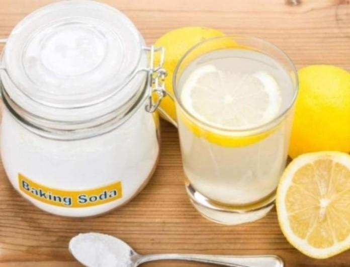 Αν πίνετε κάθε πρωί με άδειο στομάχι μαγειρική σόδα με λεμόνι και νερό θα