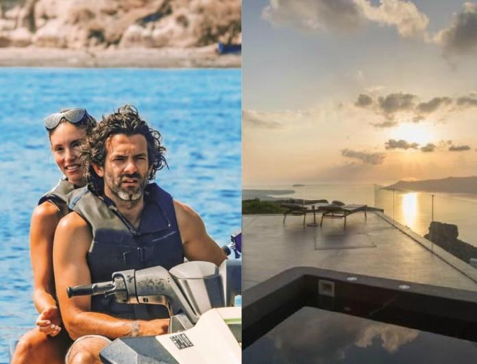 Τόσο κοστίζει μια βραδιά στο ξενοδοχείο του Φίλιππου Μιχόπουλου και της Αθηνάς Οικονομάκου στη Σαντορίνη - Μαγευτικές φωτογραφίες