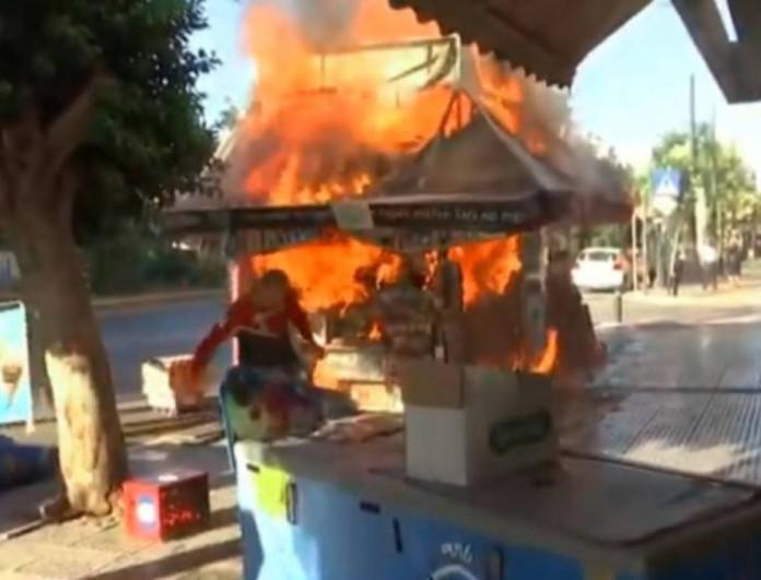 Καλλιθέα: Φωτιά ξέσπασε σε περίπτερο