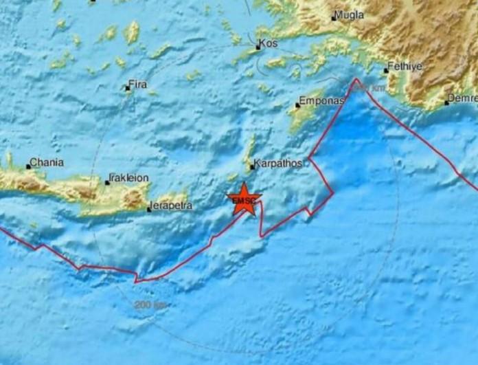 Σεισμός στην Κάρπαθο