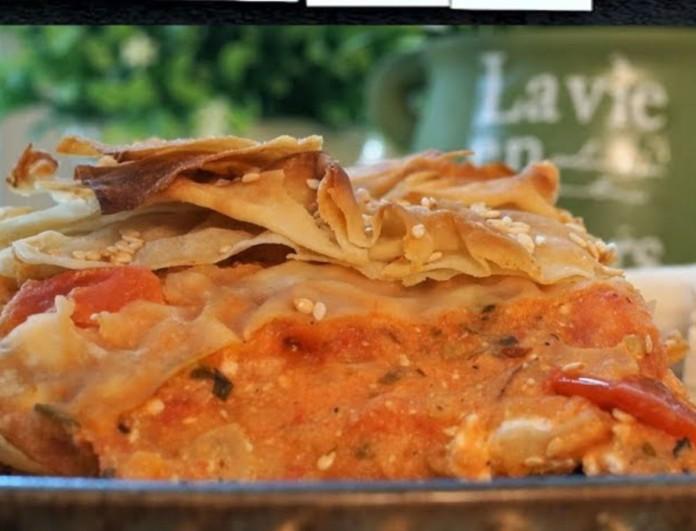 Καλοκαιρινή ντοματόπιτα από τον Γιώργο Τσούλη - Με δυόσμο και τυρί φέτα