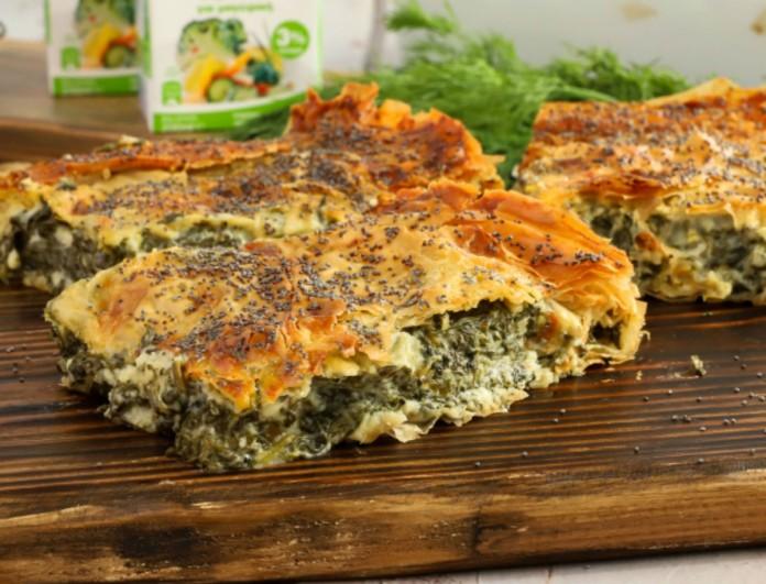 Κρεμώδης σπανακόπιτα με αυγό και θρυμματισμένα τυριά - Καλοκαιρινή απόλαυση