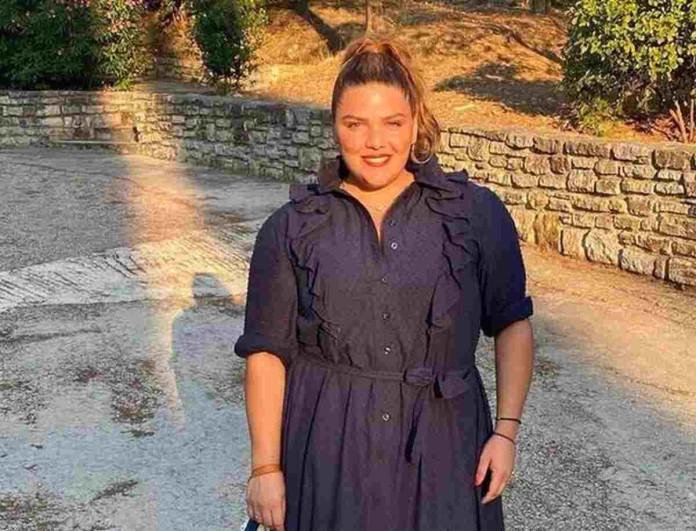 Δανάη Μπάρκα: Μπήκε στο στούντιο του Mega μαζί με την Ελιάνα Χρυσικοπούλου